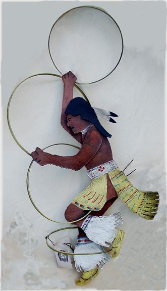 210146 Hoop Dancer Native American Motive Abstract