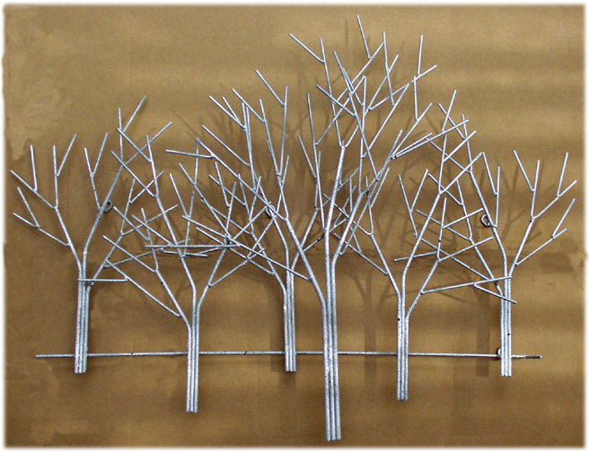 Winter Orchard Metal Wall Sculpture 210425