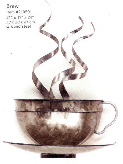Brew metal wall sculpture