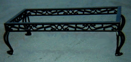 Charmant Wrought Iron Coffe Table Base