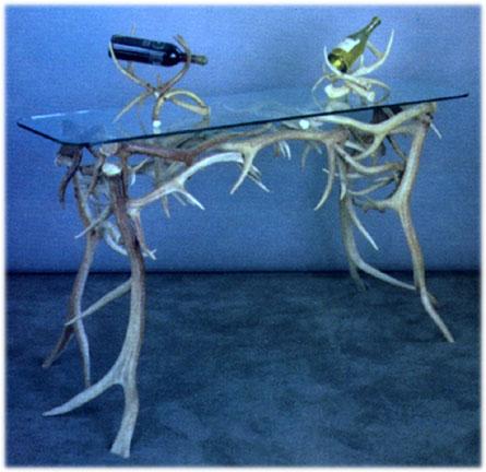 Elk And Mule Deer Antler Console Table # 16A