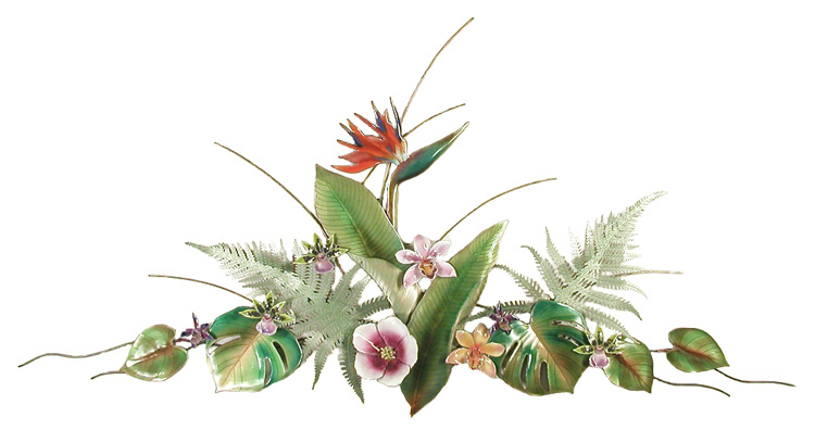 F44 Bird Of Paradise Arrangement Flower Wall Hangings