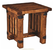 wooden side table, mesa de noche