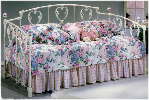 Elliott S Designs Classic Heart 32 Daybed Wrought Rod Iron