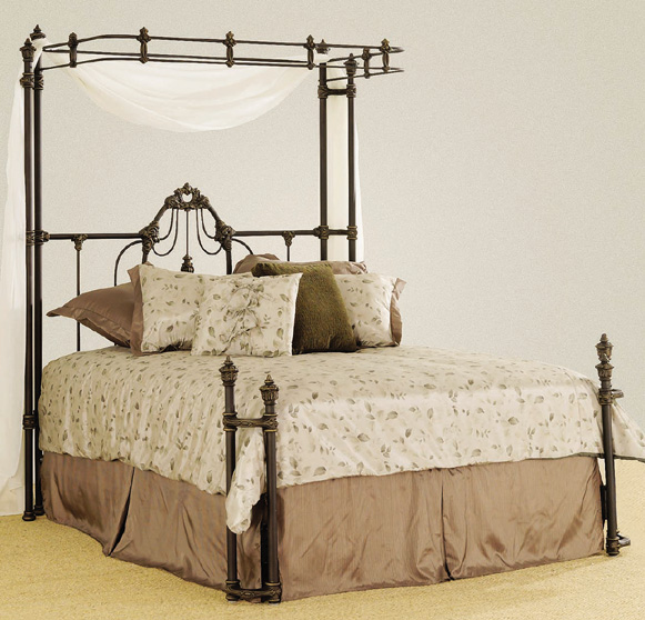 Elliott S Designs Emily Wrap Half Canopy 485 Open Toe Wrought Rod Forged Iron Beds Antique Bed Victorian Reproductions Camas De Hierro Forjado