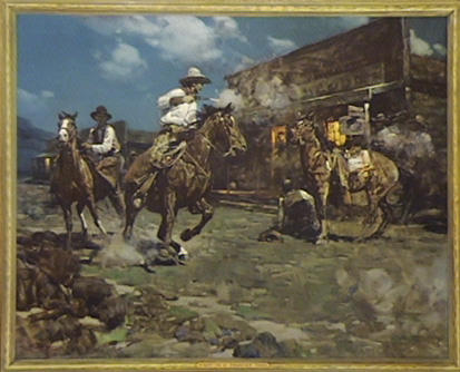 fight in a frontier town by Frank Tenney Johnson
