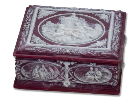 R0534 Marie Antoinette Incolay cases boxes jewelry boxes R0534