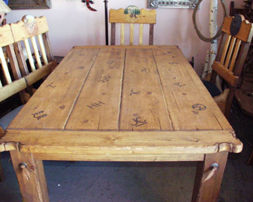 Schahrer Western Furniture Gallery #JC020 Western Rustic Dining Table