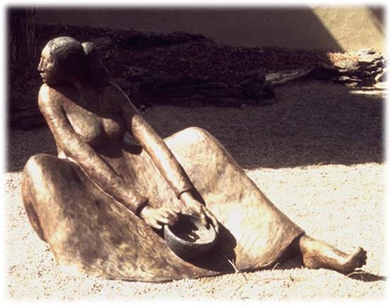 Winona Ii A Bronze Sculpture By R C Gorman
