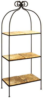 Scroll 3-Tier Double Bath Shelves