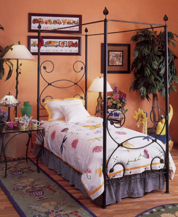 Twin Iron Beds | Iron Cribs | Iron Cradle | Iron Daybed Canopy