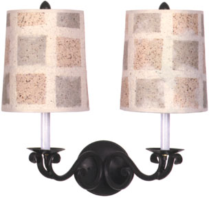 60764 Scroll Double Arm Wall Sconce