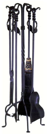 Leaf Fire Tool Set/ Black Broom
