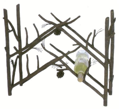 Pine Wine iron Rack
