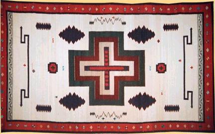 Southwestern Morning Star Artistic Rug Designs Navajo