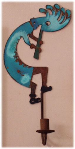 Kokopelli Wall Sconces : Wall candle holder sconce Kokopelli wall lighting decor southwestern lights