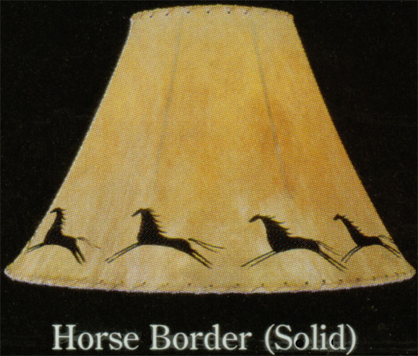 Hand Painted Limited Edition Lamp Shades Horse Border