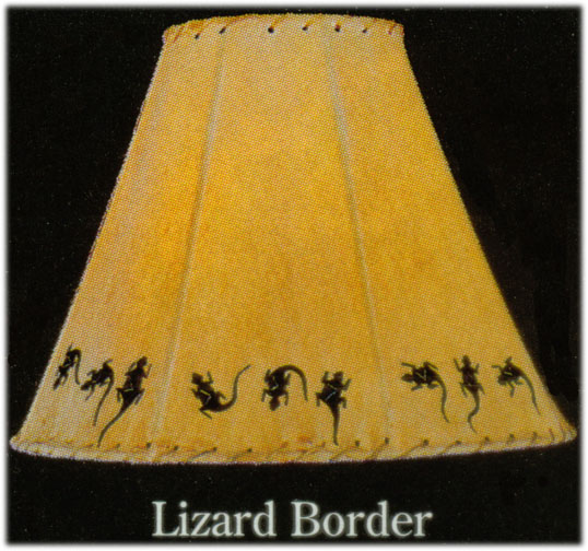 Hand Painted Limited Edition Lamp Shades Lizard Border