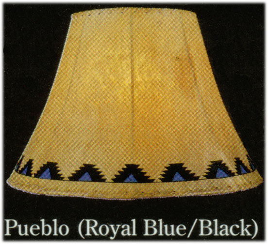 Hand Painted Limited Edition Lamp Shades Pueblo Native