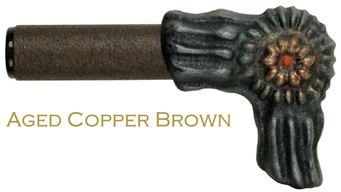 aged copper brown finish