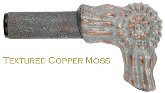 copper moss finish