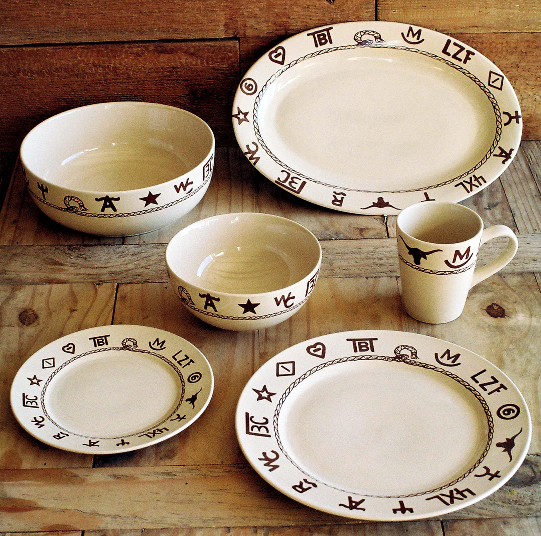 Western Dinnerware Dishware Goblets Branded Dinnerware